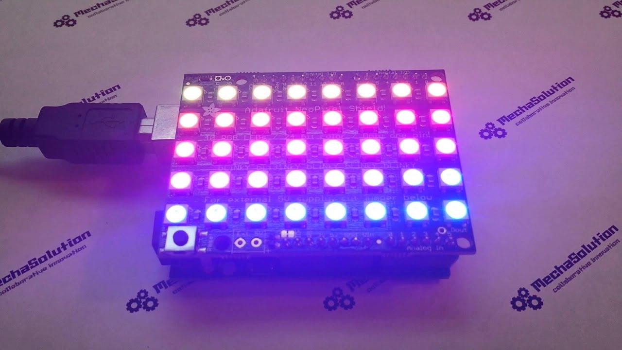 Example of driving an Adafruit NeoPixel Ring with the
