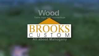 Mahogany Countertops - Brooks Custom