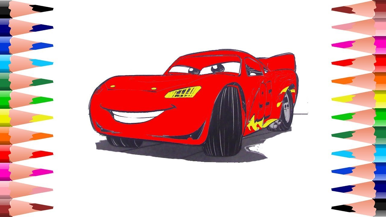 Coloring Pages Of Disney Cars : Coloring lightning mcqueen disney cars coloring pages for kids