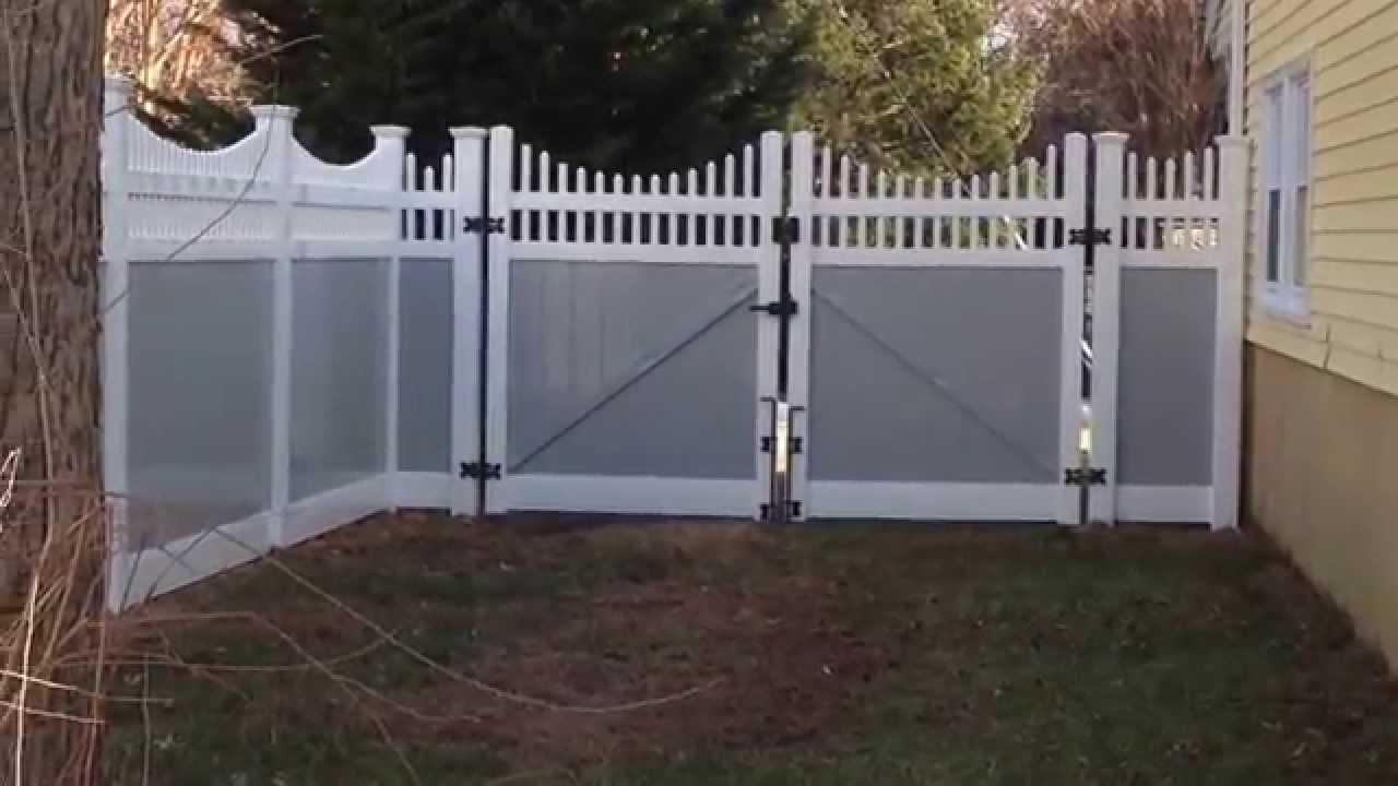 Vinyl 2 Tone Grey Fence In Arnold Youtube