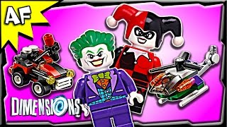 Lego Dimensions JOKER & HARLEY QUINN Team Pack 3-in-1 Build Review 71229