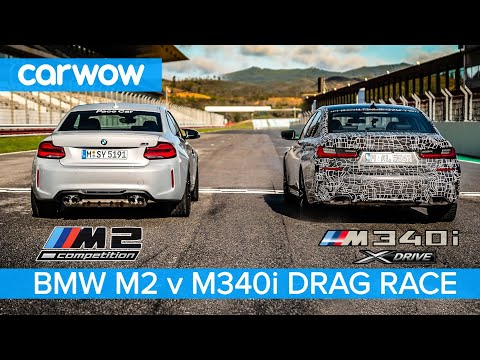 BMW M340i 2019 vs M2 Competition - DRAG RACE & ROLLING RACE...you'll be amazed how close it is.