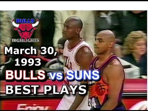 March 30 1993 Bulls vs Suns  highlights