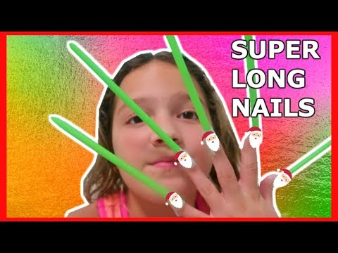 9 YEARS OLD WITH SUPER SUPER LONG NAILS | VLOGMAS DAY 20