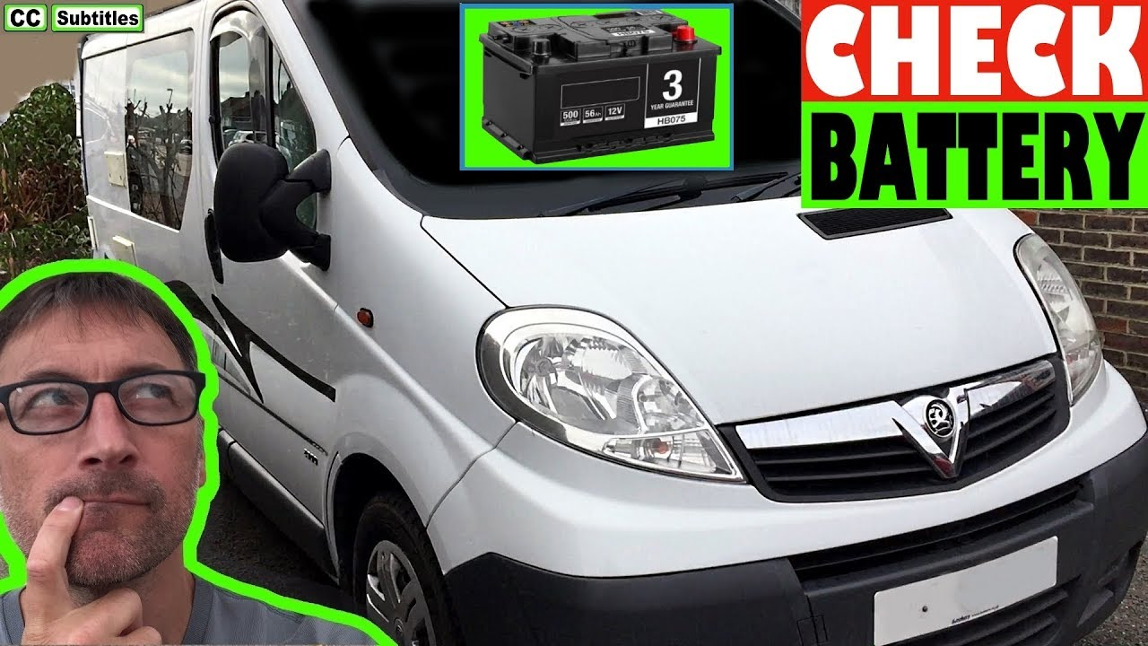 Vauxhall Vivaro Battery Location And How To Check Battery