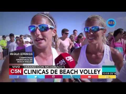 McDonald´s realizó sus clínicas de Beach Voley
