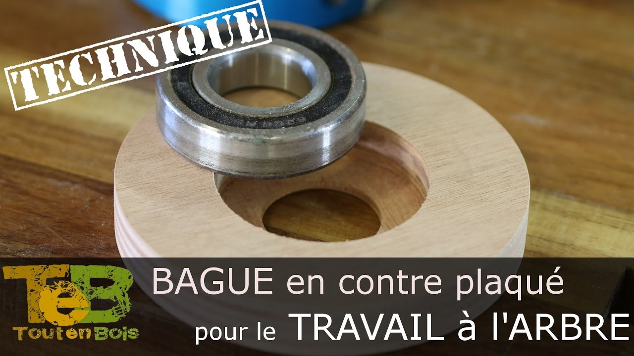 travail la toupie fabrication d 39 une bague en contreplaqu pour le roulement du travail l. Black Bedroom Furniture Sets. Home Design Ideas