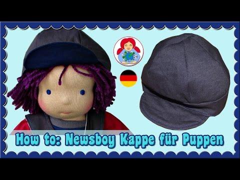 DIY   Newsboy Kappe Für Puppen   Sami Dolls Schnittmuster