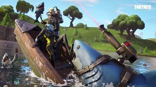 Fortnite New skins. Wreck raider,reef ranger,Laser chomp glider,Harpoon axe - Scuba diving skins