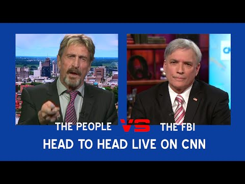 John McAfee and the FBI Finally Face Off On CNN (CNN Interview)