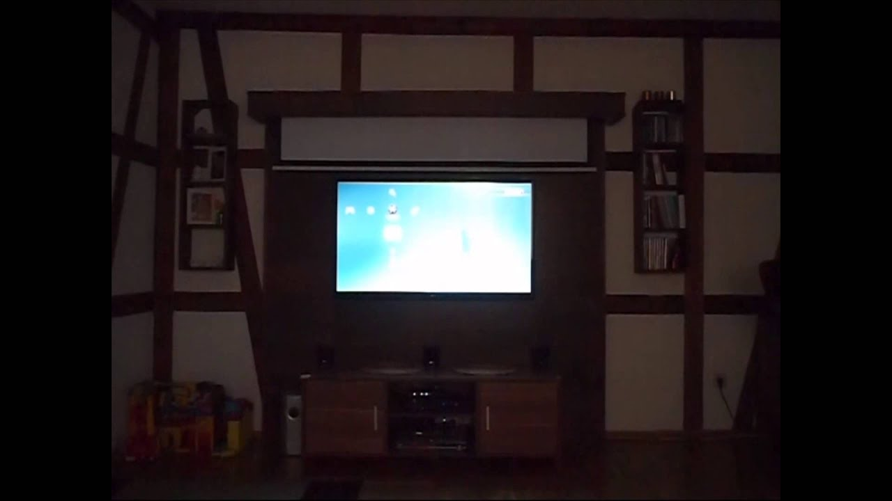 Schlafzimmer Holz Diy Led Tv Wand - Cinewall - Youtube