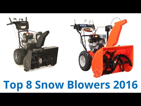 8 Best Snow Blowers 2016