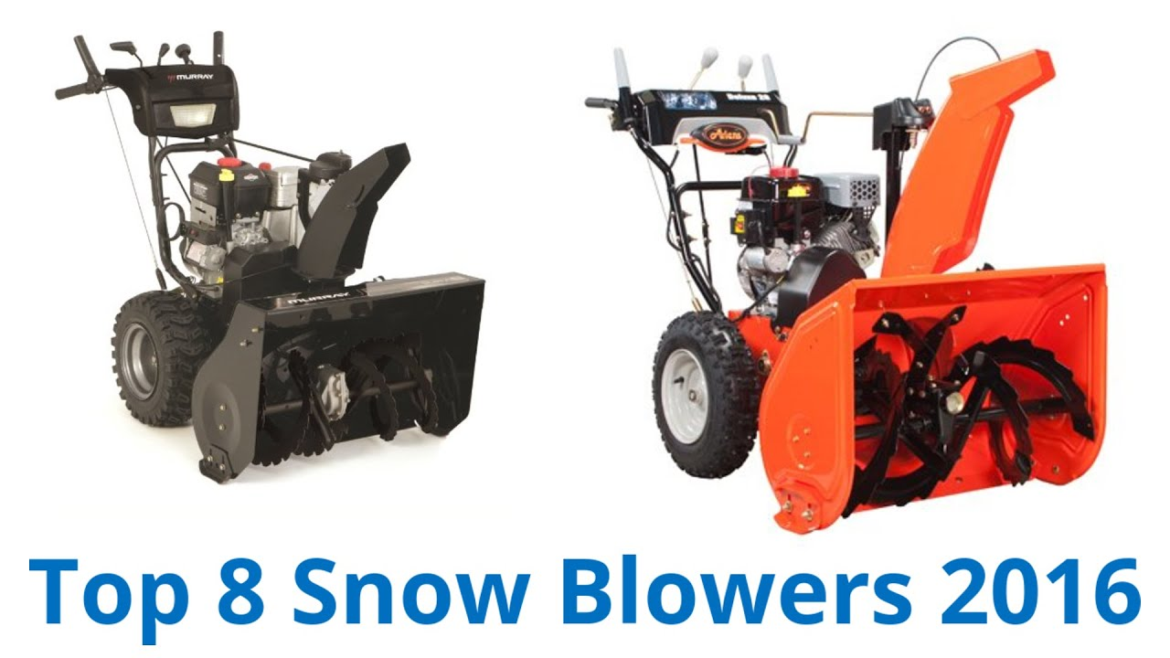 8 Best Snow Blowers