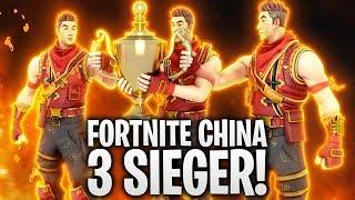 FORTNITE CHINA 3 SIEGER! 🏆 | Fortnite: Battle Royale