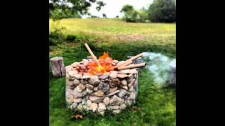 видео Очаг на даче из натуральных камней