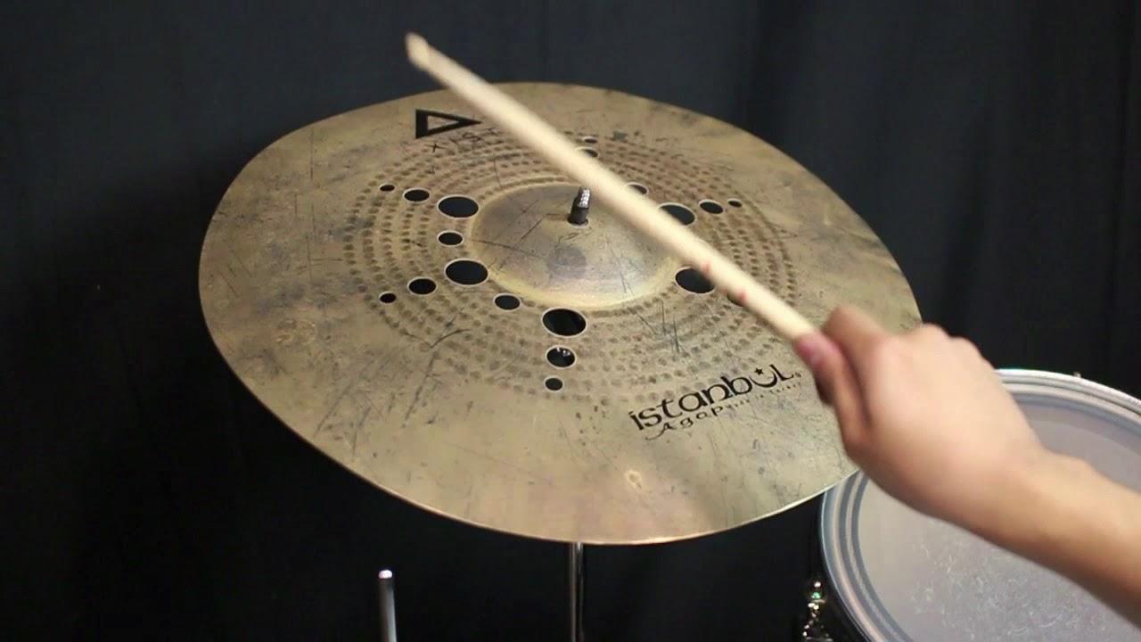 """XDIT19 Istanbul Agop Xist Ion Dark Trash Cymbal 19/"""" VIDEO"""