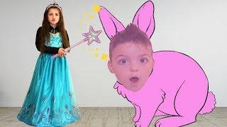 Masha and story about the magic princess