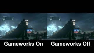 Batman Arkham Knight || Gameworks Comparison