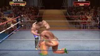 Legends of Wrestlemania Gameplay (PS3) - Ravishing Rick Rude vs Ultimate Warrior
