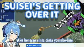 【Vtuber Sub Indo】Suisei Manjat Tebing di Getting Over It