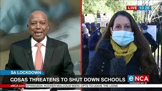 The congress of south african students is threatening to shut down schools in western cape. this after two teachers at rhodes high school tested posi...