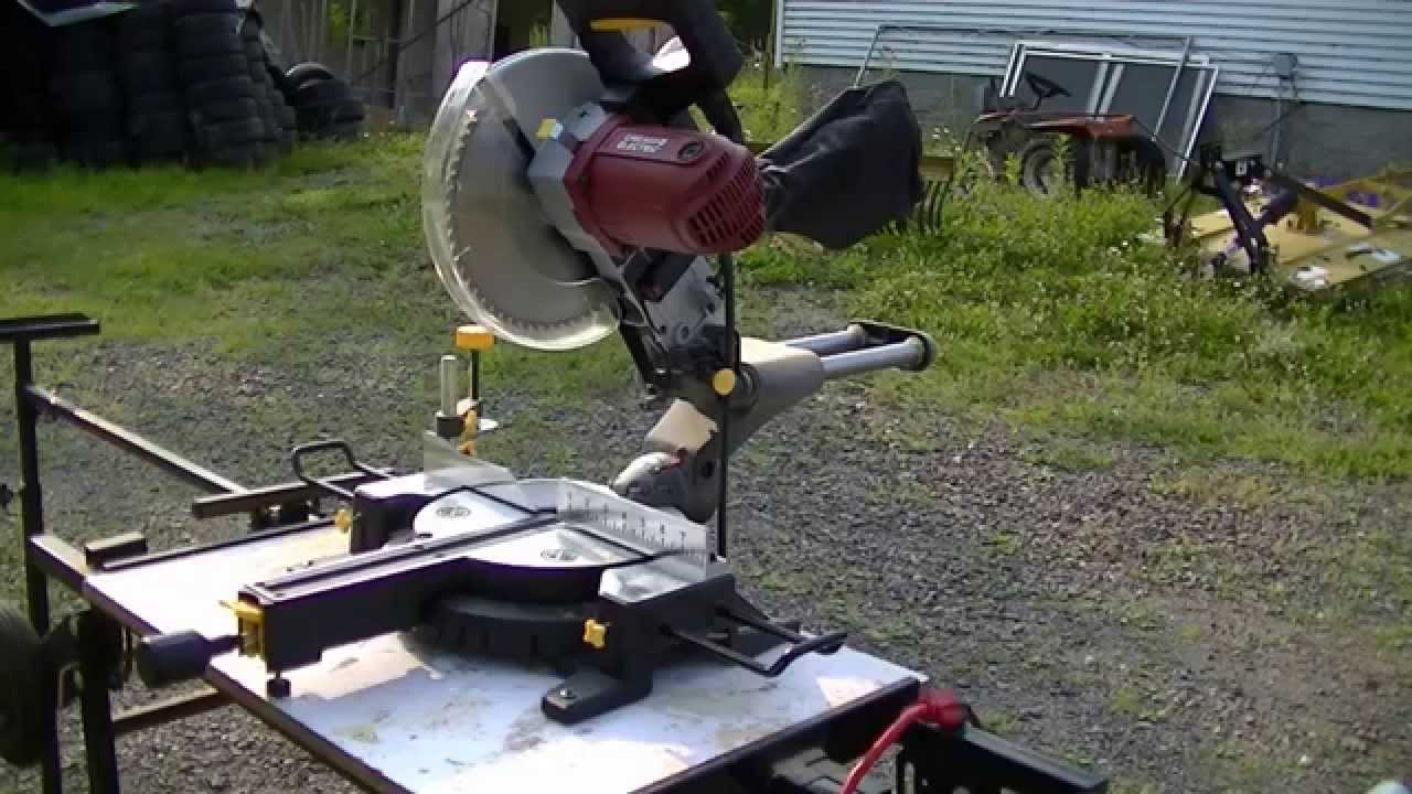 Harbor freight 10 chicago electric sliding compound miter saw item harbor freight 10 chicago electric sliding compound miter saw item 61307 youtube greentooth Choice Image