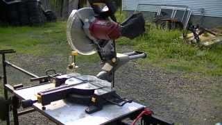 "Harbor Freight 10"" Chicago Electric Sliding Compound Miter Saw Item 61307"
