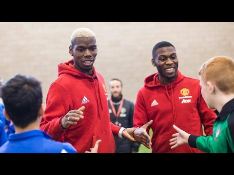 Paul Pogba and Juan Mata on #SchoolsUnited Facebook LIVE Video
