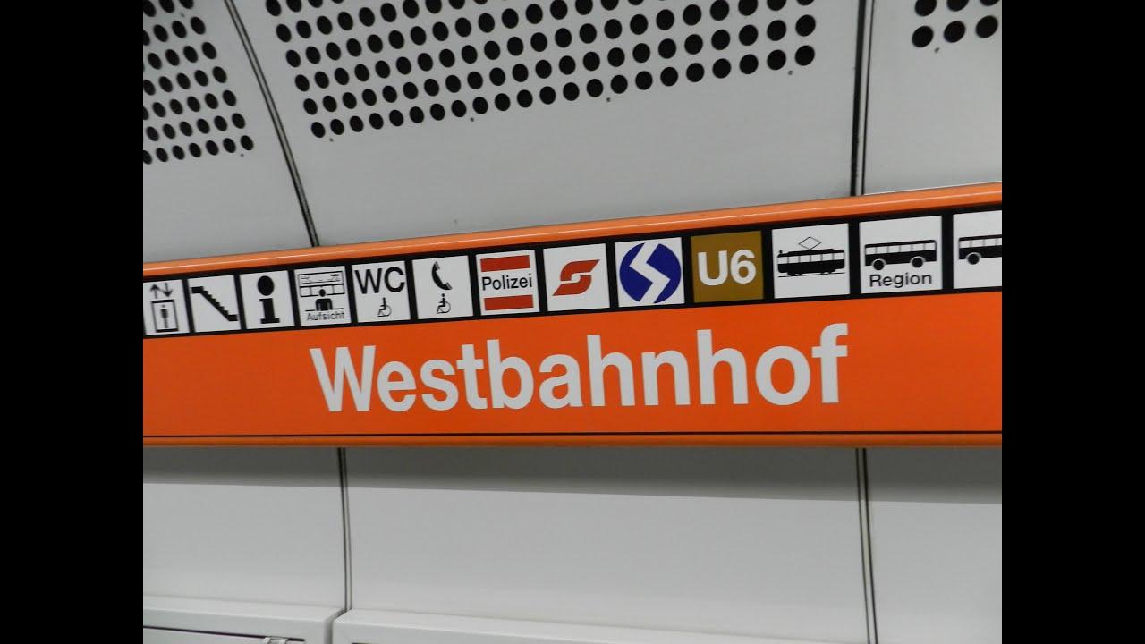 Vienna Wien Westbahnhof Sbahn S50 Ubahn U3 U6 InterCity