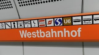 Vienna - Wien Westbahnhof S-bahn (S50), U-bahn (U3, U6) InterCity trains and Trams 2015 07 19 - 23