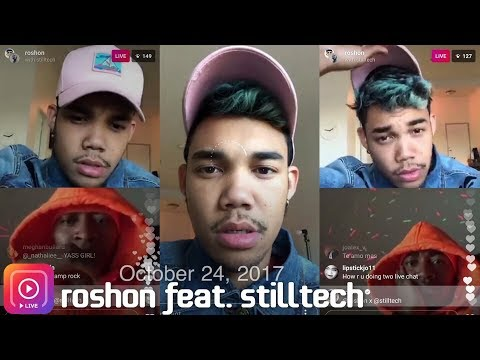 Roshon Fegan feat. stilltech ~talking about their ~ on Instagram LIVE 10242017