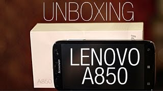 Lenovo A850 - First look and unboxing (English)