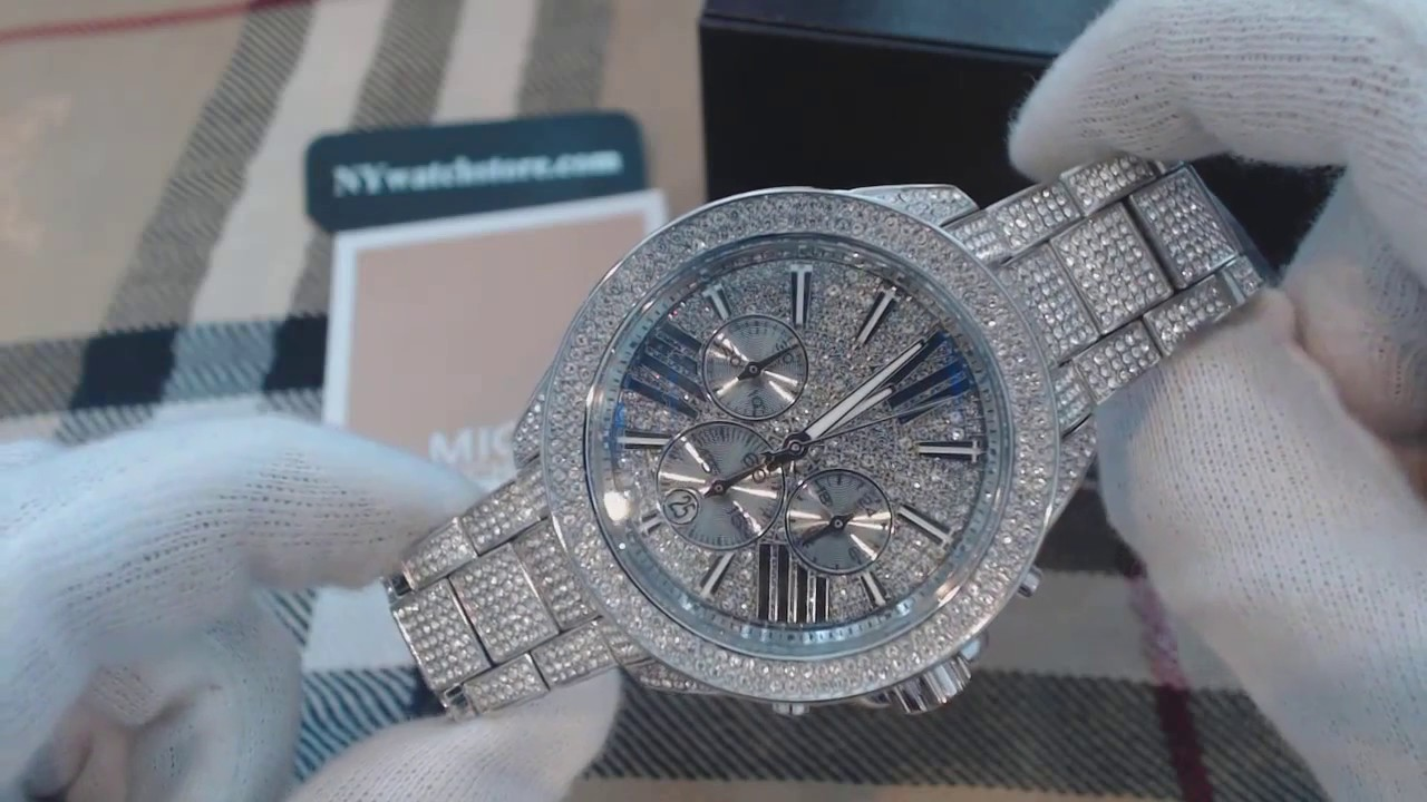 644ce4b96e64 Women s Michael Kors Wren Steel Silver Crystalized Chronograph Watch MK6317