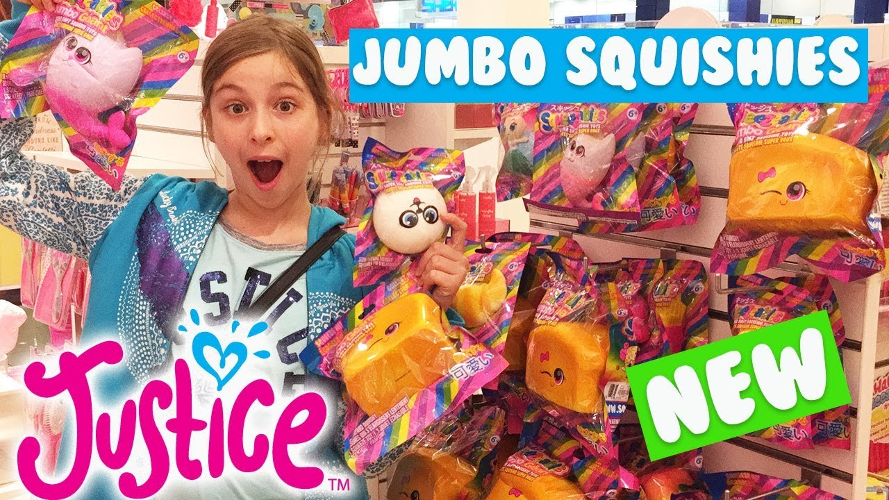 Squishy Justice : NEW in 2018 ?? Jumbo Squishies at JUSTICE Squishy Hunting at Justice Vlog ?????? - YouTube