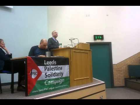 David Cronin at Leeds [Israeli Apartheid Week]