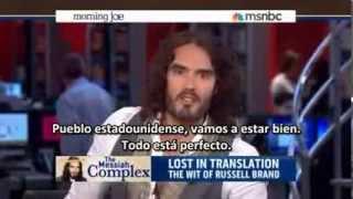 Russell Brand se toma el noticiero MSNBC (¡Deben verlo! ¡Muy gracioso!) 2013