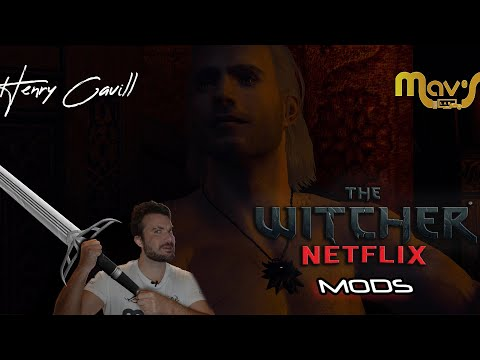 The Witcher 3 NETFLIX MODS , Henry Cavill e Ania Chalotra