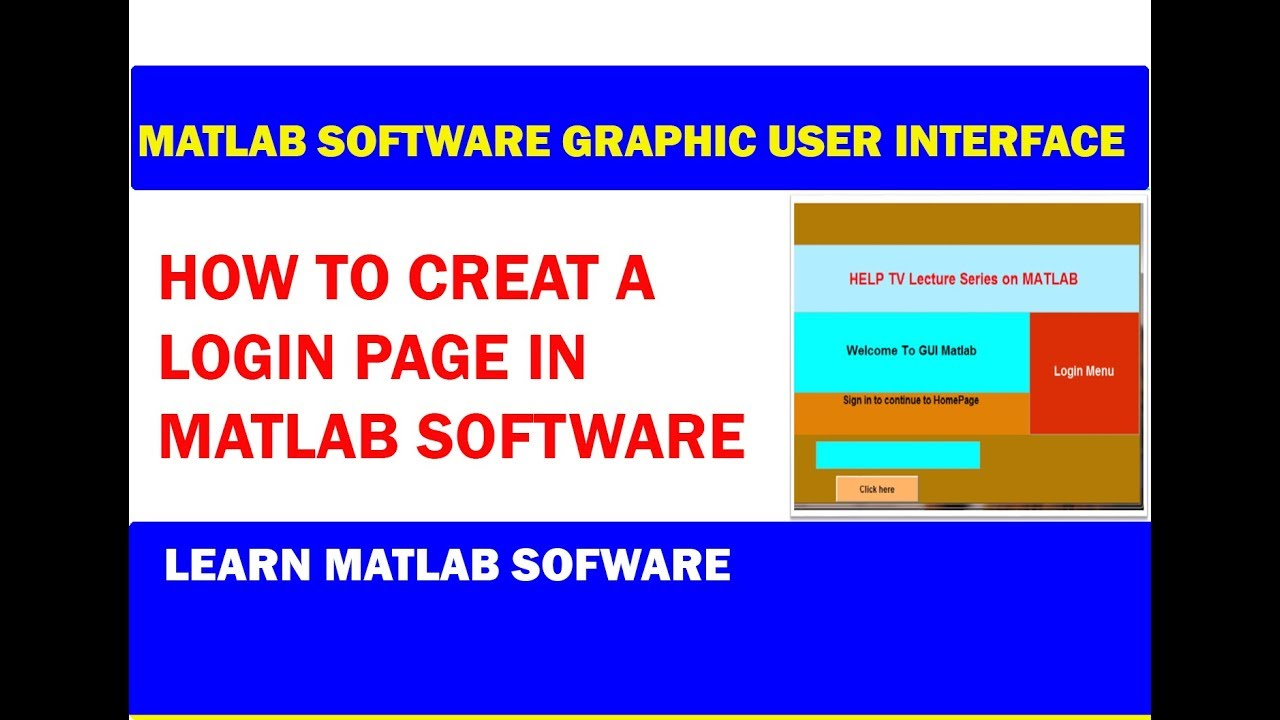 How to create Login page in GUI Matlab | part 1 2019