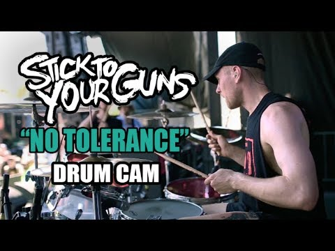 Stick To Your Guns   No Tolerance   Drum Cam (LIVE) ft. Bryan Garris