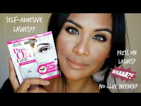 1932e0f4f5c Ardell Press On Lashes - Self Adhesive Eyelashes! NO GLUE?? - YouTube