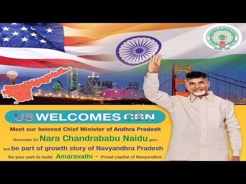 LIVE - Chief Minister of Andhra Pradesh - Shri Chandra Babu Naidu  - Dallas Texas