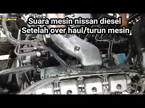 SUARA MESIN NISSAN DIESEL V8 SETELAH OVER HAUL/TURUN MESIN GANTI CRANK SHAFT#Bayuputramotor