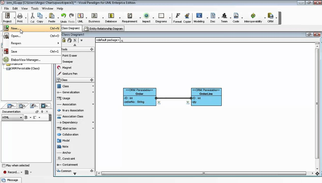 small resolution of generate erd relationship from uml association in class diagram youtube