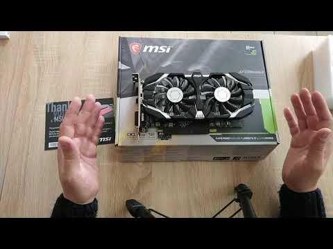 MSI PCI-Ex GeForce GTX 1050 Ti 4GT OC 4GB GDDR5 (128bit) (1341/7008) (DVI, HDMI, DisplayPort) (GTX 1050 TI 4GT OC)
