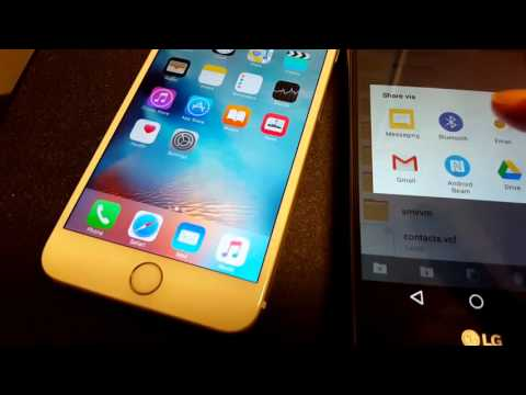 How To Transfer Contacts (Android To IPhone)