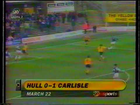 Hull City 0 V Carlisle United 1 Saturday 22nd March 1997 Division 3