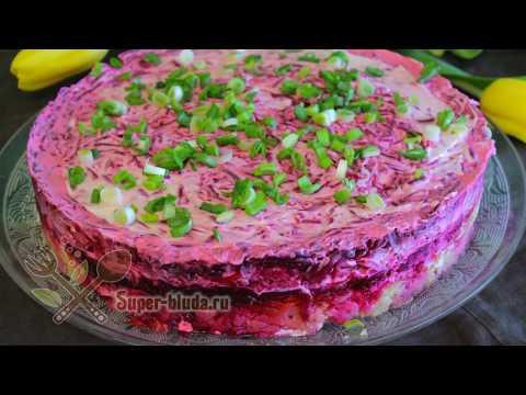 Слоеный овощной салат или овощной торт. Готовим вкусный овощной салат