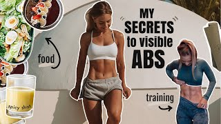 MY SECRET to having visible abs (training, food, body fat & genetics)