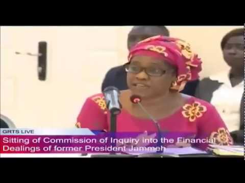 Former Tourism & Culture Minister Fatou Mass Jobe Testifies At The Commission Of Enquiry