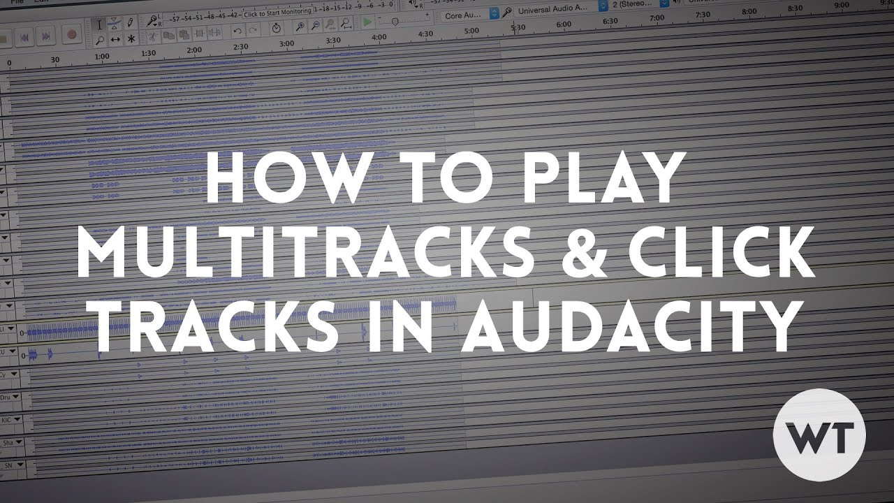 How to play multitracks and click tracks using free audio software  (Audacity)